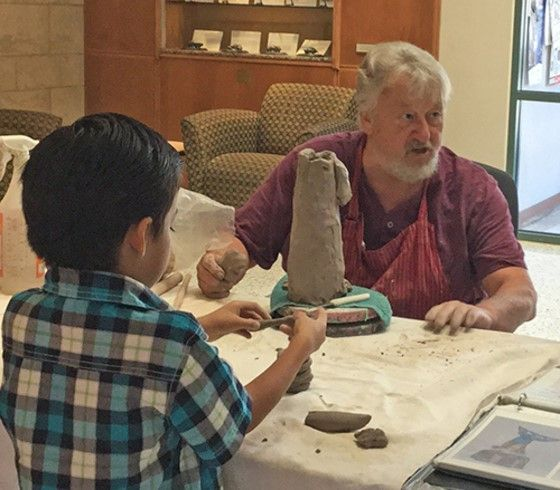 Sculpture Demo at Library Sep 17, 2016- Georgetown, TX