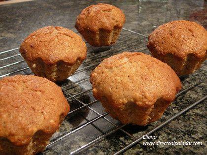 Muffins de banana y avena.