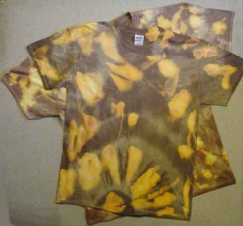 """Batik T-Shirt """" ROT GELB GRÜN BRAUN BLAU """" S M L XL XXL bei Yatego kaufen - Ein Angebot von Gisela Schweitzer"""