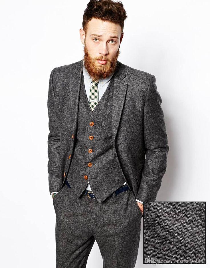 Custom Tweed Blazer Men Wool Herringbone British Style Custom Made Mens Suit Slim Fit Blazer Wedding Suits for Men Groom Vest Groom Waistcoat Groomsman Wear Online with $99.43/Piece on Justforyou001's Store   DHgate.com