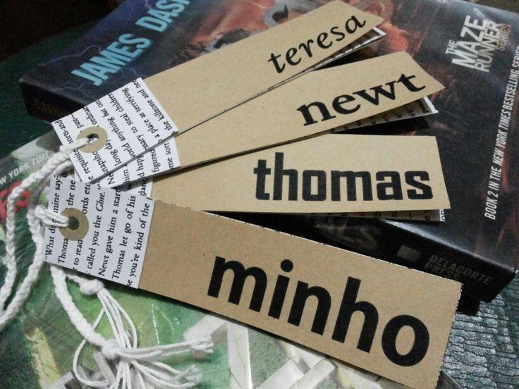 DIY The Maze Runner bookmarks.