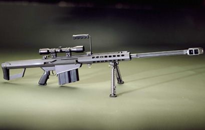 Barrett 50 Cal Rifle Will Destroy anything it hits I mean ANYTHING even your Neighbors Military H1