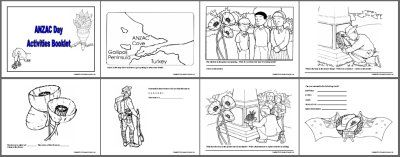 Colour-in activities - Anzac Day Websites