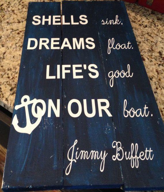 Shells sink Jimmy Buffett by AllForMommyAndMe on Etsy