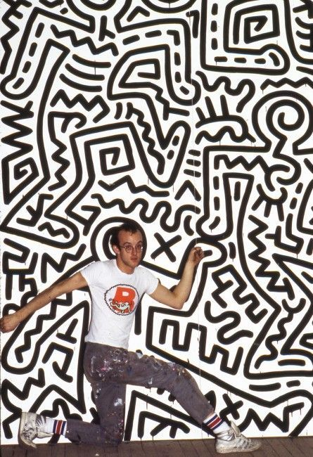 Tseng Kwong Chi, Keith Haring, Brooklyn Academy of Music, Nueva York, 1985, impresión Chromogenic, impreso 2014: