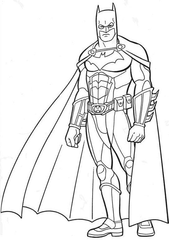 Batman Has A Great Body Shape Coloring Pages   paper - templates ...