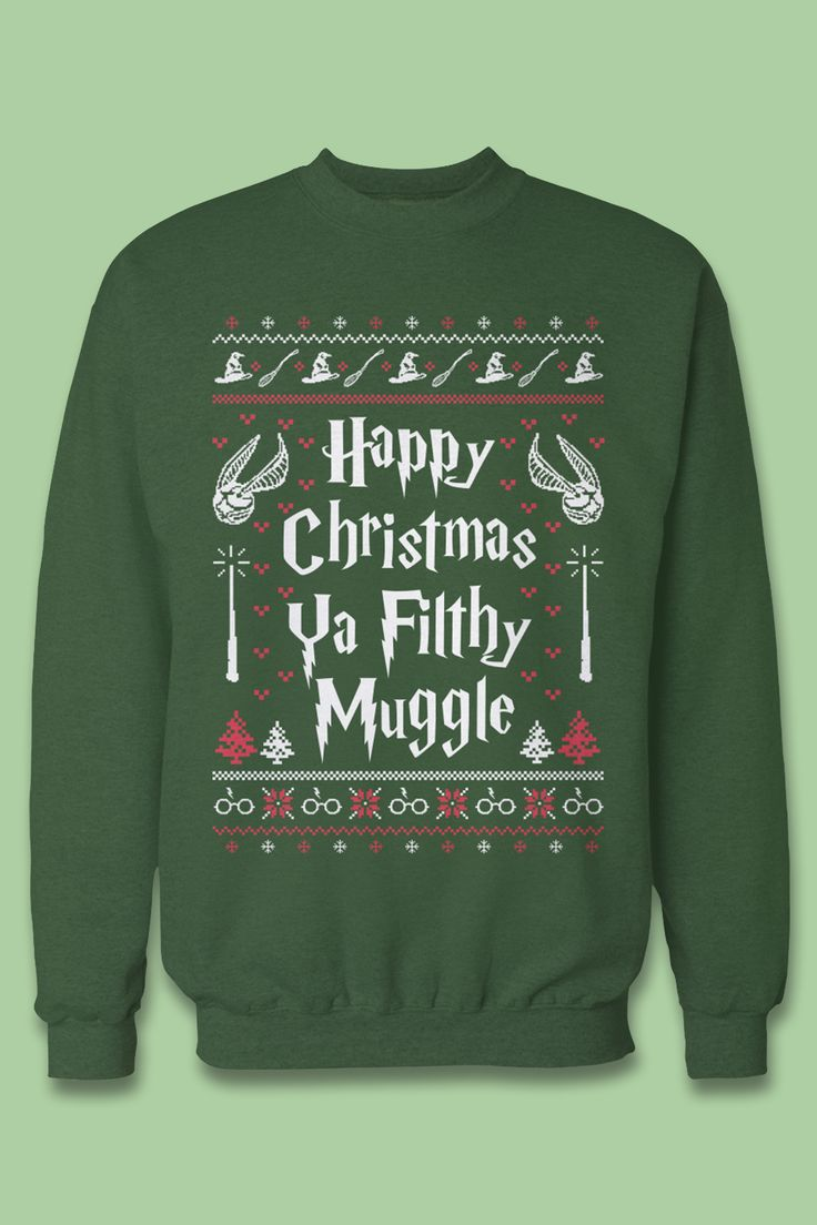 The best gift for Harry Potter fans! I need this ugly christmas sweater <3