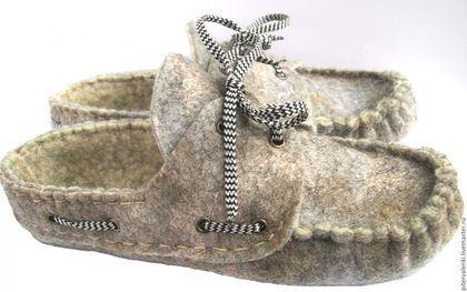 Ботинки-мокасины из войлока, валяные ботинки, туфли унисекс, ботинки , туфли, мокасины ручной работы, авторская обувь , валяная обувь Авраменко Ирины.
