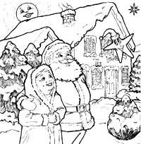 Mr and Mrs Claus. Adapted from the book Twinkle the Christmas Star.