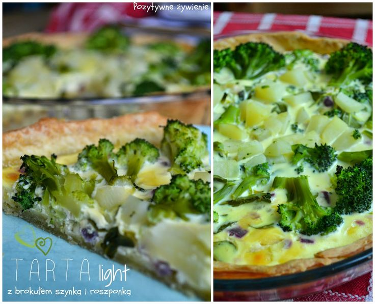 Pozytywne żywienie - dietetyka od przyjemnej strony: Dietetyczna tarta jogurtowa z brokułami, szynką, roszponką i ziemniakiem