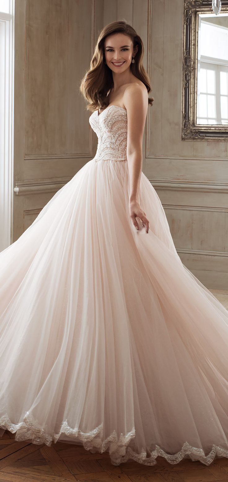 Sophia Tolli Spring 2018 Mon Cheri bridals strapless sweetheart beaded lace bodice ball gown wedding dress (y11891 aella) mv chapel train blush princess romantic -- Spring 2018 Wedding Dresses from Mon Cheri Bridals #weddingdress #weddinggown #blush