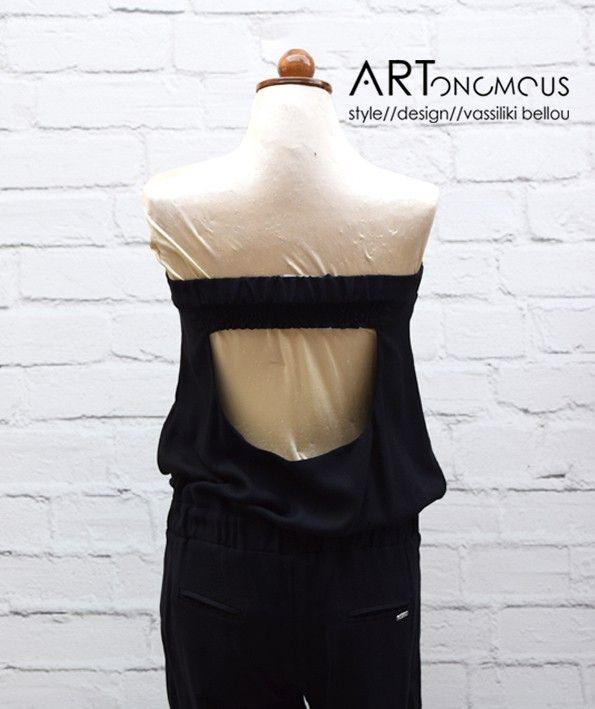 Black strapless Jumpsuit - ARTonomous // Style // Design