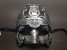 Silver Roman Greek Warrior  Emperor Masquerade Mardi Gras Venetian Mask