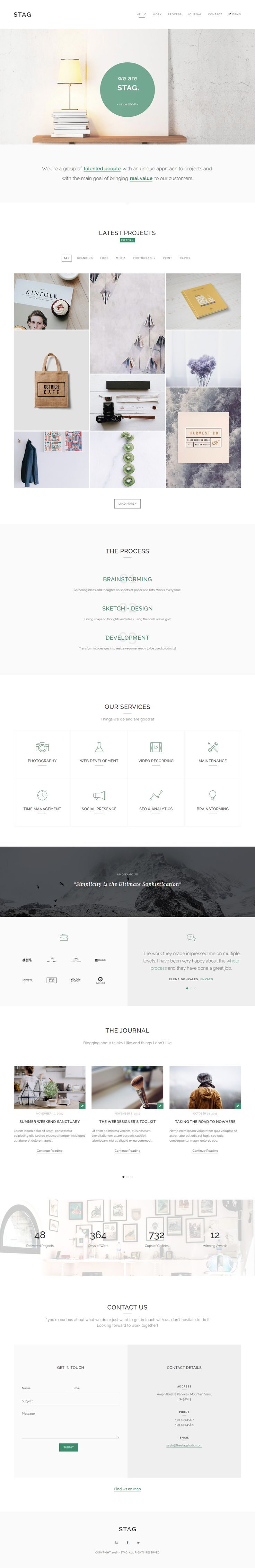 Stag is Premium full Responsive Parallax #WordPress Portfolio Theme. Visual Composer. WooCommerce. #MinimalDesign. #OnePage. Test free demo at: http://www.responsivemiracle.com/stag-premium-responsive-portfolio-wordpress-theme-freelancers-agencies/