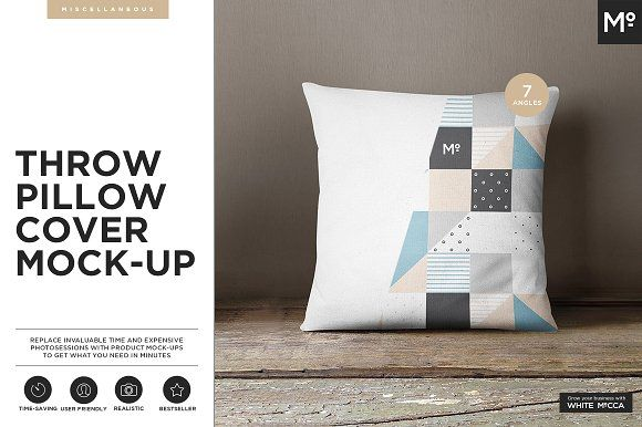 The Pillow Cover Mock-up by Mocca2Go/mesmeriseme on @creativemarket