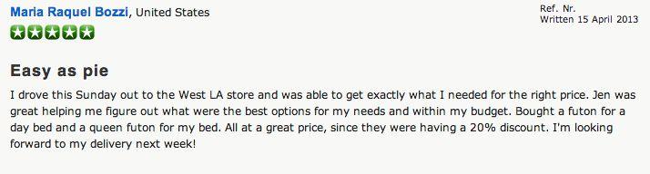 Review - The Futon Shop Los Angeles - 10865 W. Pico Blvd Los Angeles, CA 90064 (310) 474-5595