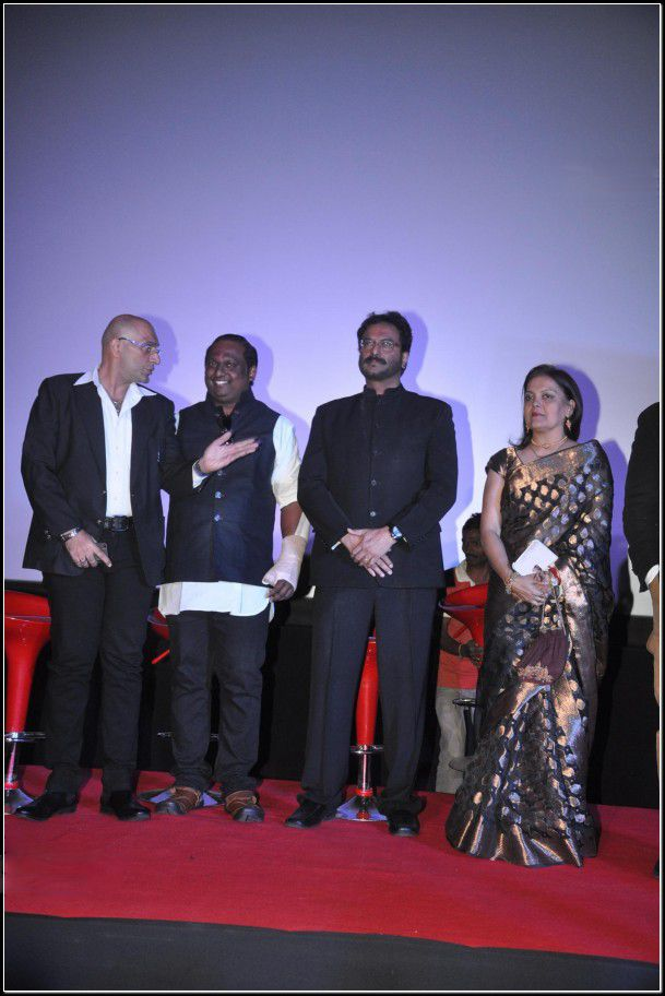 Left to right: Amit Behl, Rupesh Paul, Milind Gunaji and Sushmita Mukherjee at the trailer launch event of #kamasutra3d.