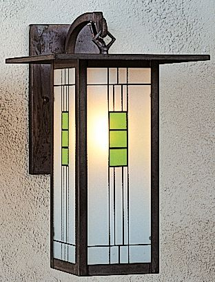 Arroyo Craftsman Fb9lmb Mission Brown Franklin Stained Glass Tiffany Down Lighting Wall Sconce From The Franklin Collection Fb9l