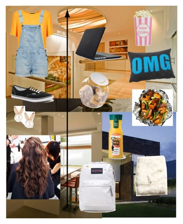 """""""On The Plane To Guadalajara, Mexico!"""" by strawburrybunny ❤ liked on Polyvore featuring Topshop, Forever New, Vans, Skinnydip, Speck, JanSport, OXO, Alexandra Ferguson, H&M and Aamaya by priyanka"""