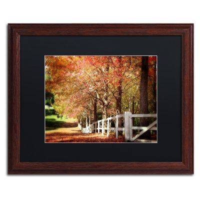 Trademark Fine Art Autumn Moods Framed Art by Beata Czyzowska Young Brown Frame/Black Matte - BC0159-W1620BMF
