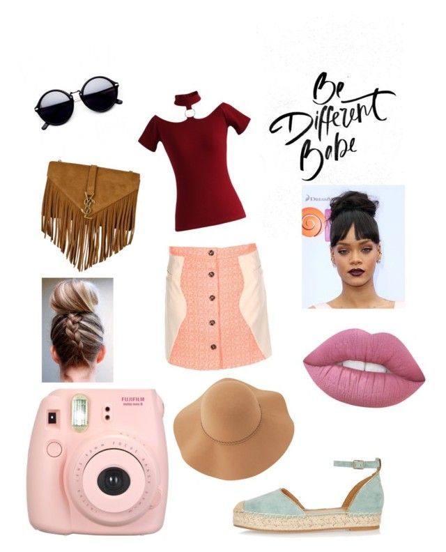 """""""Hippie"""" by niania-long on Polyvore featuring Jovonna, Chicwish, River Island, Yves Saint Laurent, Fujifilm and Sans Souci"""