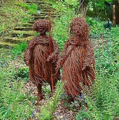 FIGURES' , A SCULPTURE IN WILLOW BY MIKE SMITH. TH...