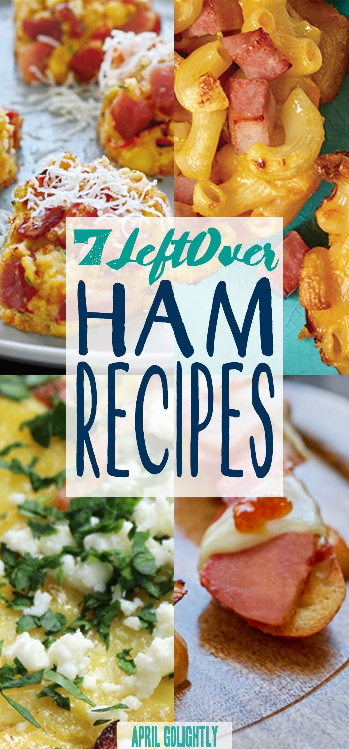 7 Ham Leftover Ideas everything from appetizers like Ham and Brie Crostini with Fig Jam and a yummy breakfast like Spanish Tortilla with Ham SmithfieldBaconBar  AD