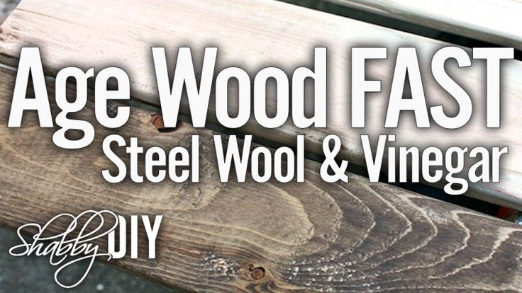 Make Steel Wool And Vinegar Wood Stain. Today we are going to show you how to give wood an aged look using vinegar and steel wood. This method makes the stain in hours, not weeks.