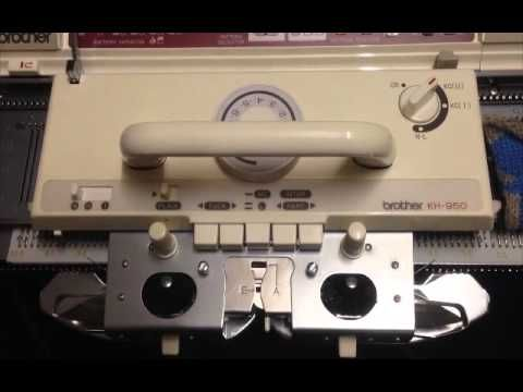 Brother Electronic KH950 Strickmaschine Electroknit Knitting Machine For Sale - http://www.knittingstory.eu/brother-electronic-kh950-strickmaschine-electroknit-knitting-machine-for-sale/