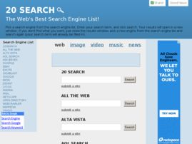 20search homepage