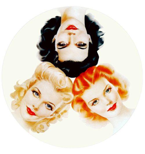 Illustration by Alberto Vargas for Jergens Face Powder c. 1940s