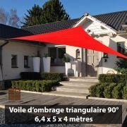 Voile d'ombrage triangulaire Ingenua - COTE TERRASSE