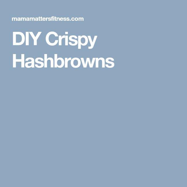 DIY Crispy Hashbrowns
