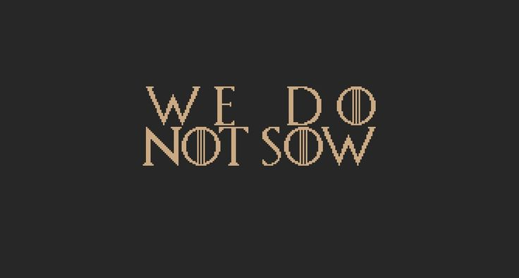 House Greyjoy, Game of Thrones House Motto cross stitch chart