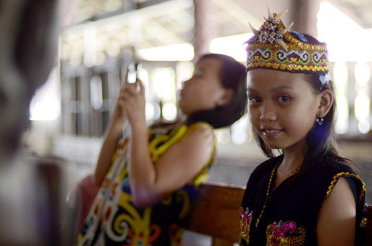 Modern youngster Dayak Cultural Village, Samarinda