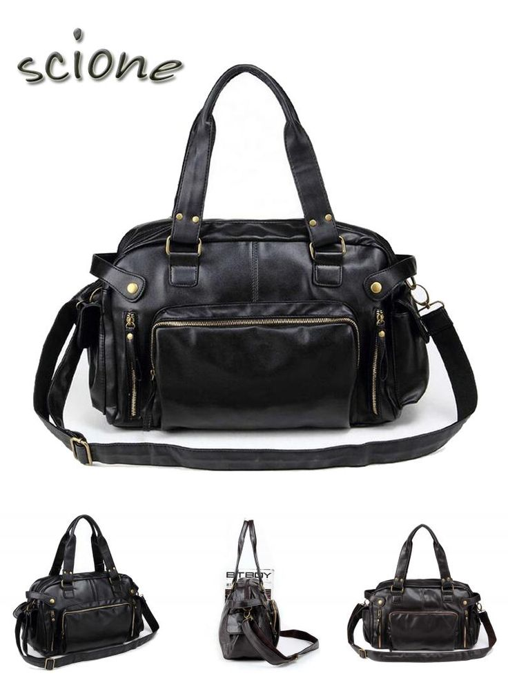 [Visit to Buy] 2017 High Quality Leather Sports Bag Men Handbags Gym Cowhide Men Gym Bag Men's Travel Bags Laptop Briefcase Bag for Man #Advertisement