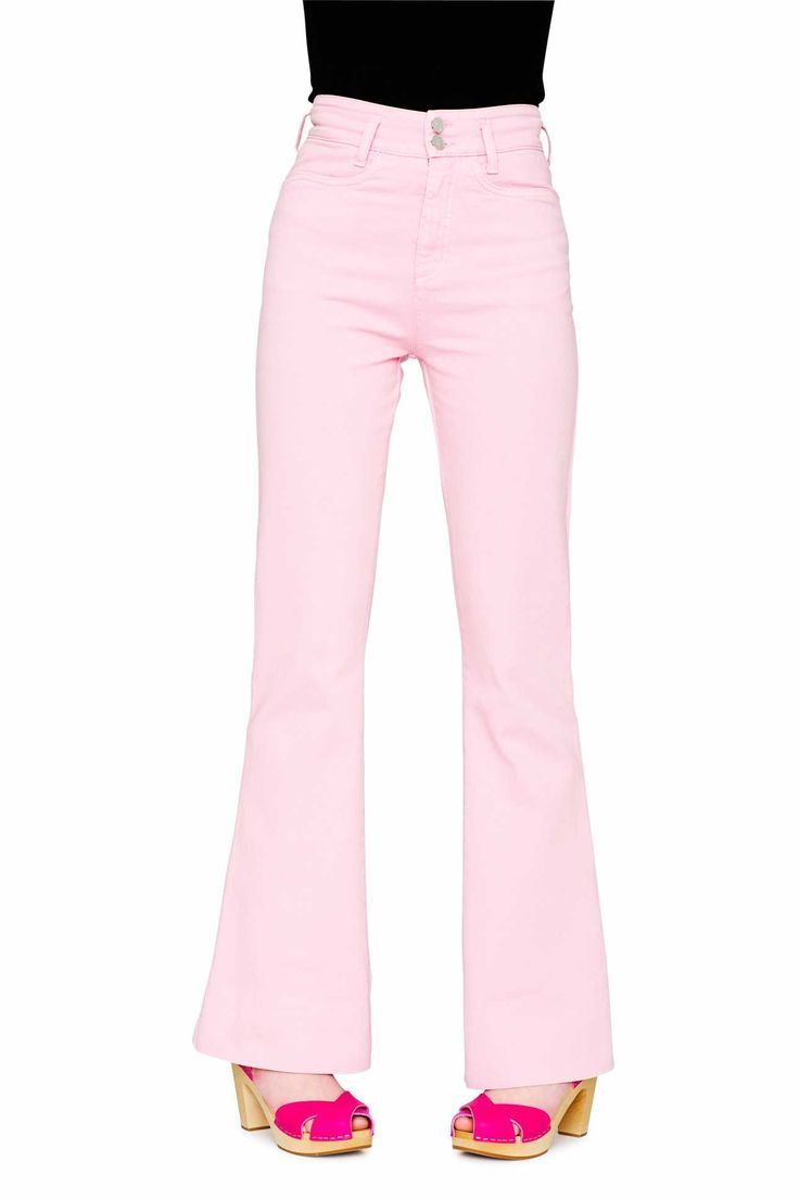 Swedish Hasbeens HasJeans Flare Jeans Light Pink