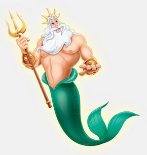 disney king triton | king triton background information feature films the little mermaid ...