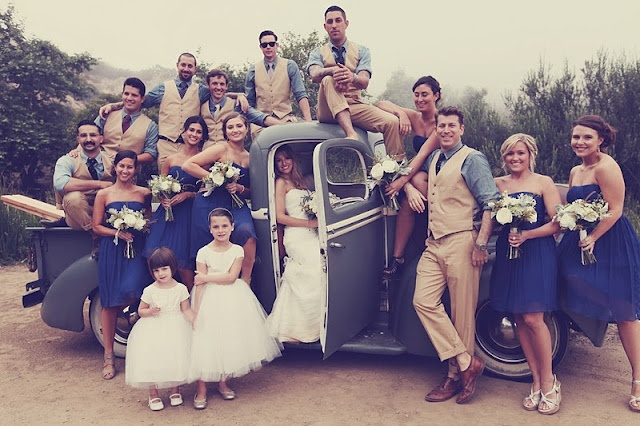 I love everything about this wedding! vintage!