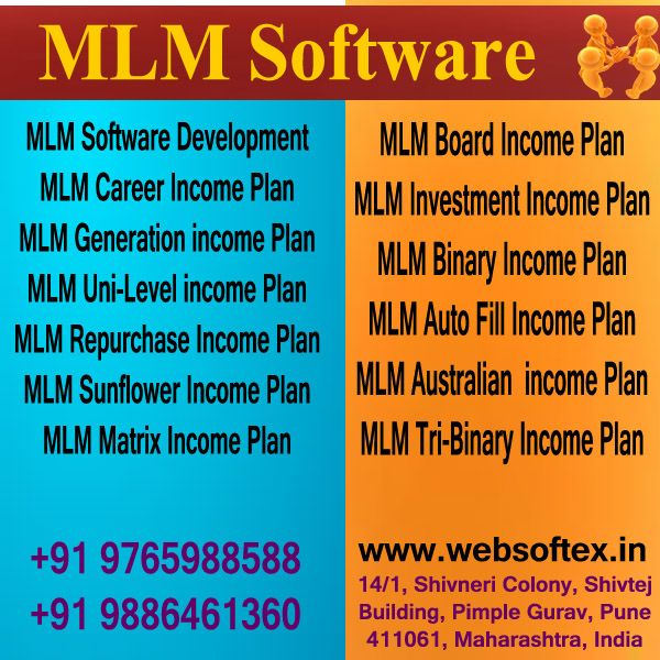 Websoftex Software Solutions Pvt. Ltd., a Bangalore based company, extending its services in Website Designing, Web Development, MLM Software includes MLM Career Plan, Binary MLM, Generation Plan MLM, Sun flower MLM Software. We have a team of 60 experienced developers exclusively employed for development and support for MLM Software 24/7 across the nation.