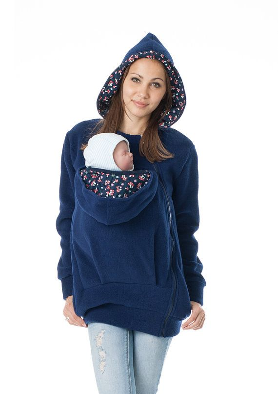 Baby carrying jacket Baby carrying hoodie Belly by BellyToBabyShop