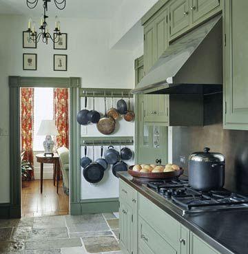 25 best ideas about pot racks on pinterest pot rack for Blank kitchen wall ideas
