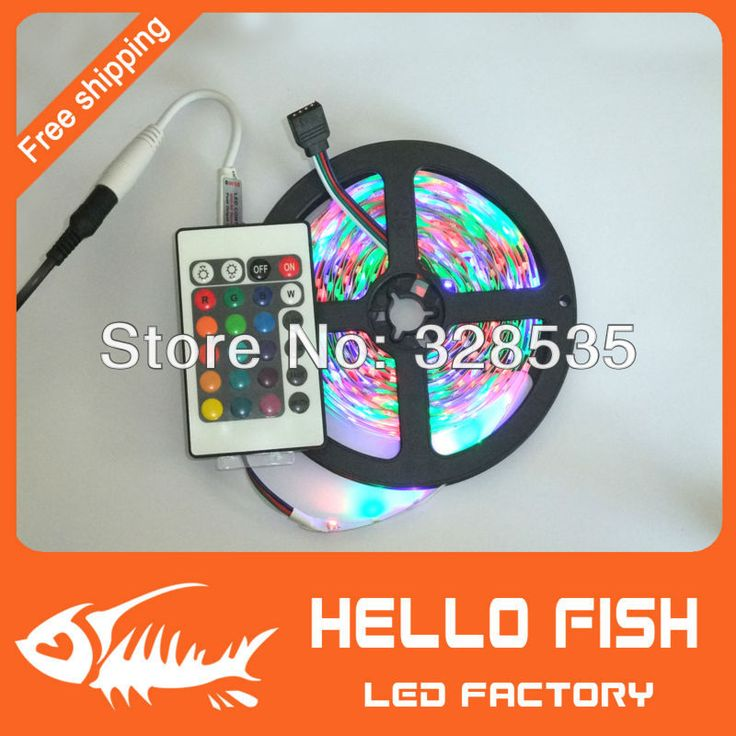 5M/roll 3528 RGB flexible led strip, 60leds/M & 24key IR Romote Controller free shipping by China Post.-in LED Strips from Lights & Lighting on Aliexpress.com | Alibaba Group