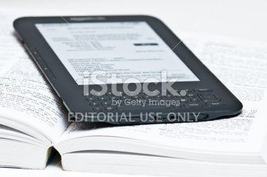 Amazon Kindle Reading Device Royalty Free Stock Photo
