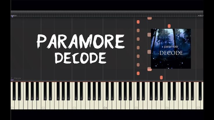 Paramore - Decode - Piano Tutorial by Amadeus (Synthesia)
