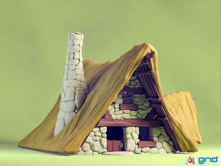 Generic Village House, Olivier Couston on ArtStation at http://www.artstation.com/artwork/generic-village-house