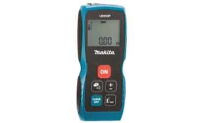 Medidor De Distancia a Laser LD050P - Makita  MODELO - LD050P CARACTERÍSTICAS Com corpo ergonômico. Armazena até 5 medidas na memória. Realiza cálculo de área e volume. Função rastreamento. ESPECIFICAÇÕESAlcance de medição : 50m Precisão de Medição : 2.0mm Fonte de energia : Bateria 2x 1,5V AAA Qtd. de Medições por bateria : 3.000 ITENS QUE ACOMPANHAM 2 pilhas alcalinas AAA, coldre e alça de transporte  www.colar.com