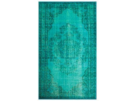 nuLOOM Remade Overdyed Turquoise Rectangular Area Rug