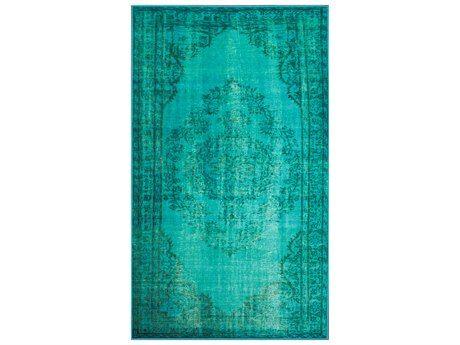 nuLOOM Remade Overdyed Turquoise Rectangular Area Rug