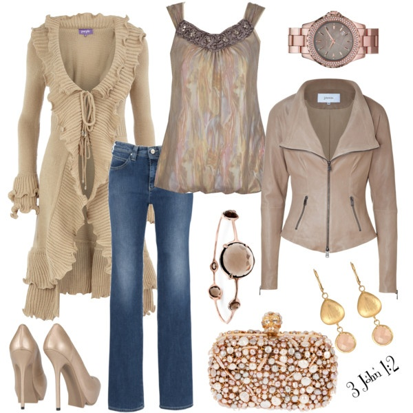 Taupe OutfitCardigans, Easygoing Iridescent, Fashion, Style, Long Sweaters, Fall Outfit, Leather Jackets, Heels, Jeans Skirts